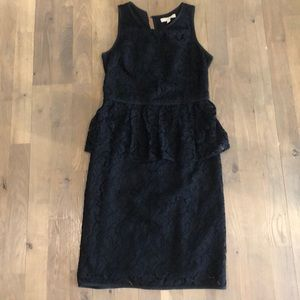 Banana republic black lace dress
